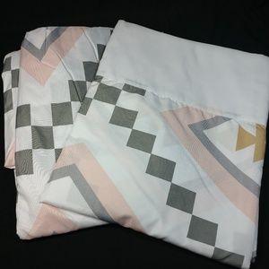 Sweet Jojo Designs Twin Bed Sheet Set For Pink Gre